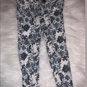 7 For All Mankind Floral Stretch Skinny Jeans